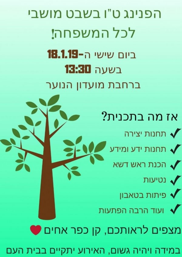 ט׳׳ו בשבט 18.1.19 בכפר אחים