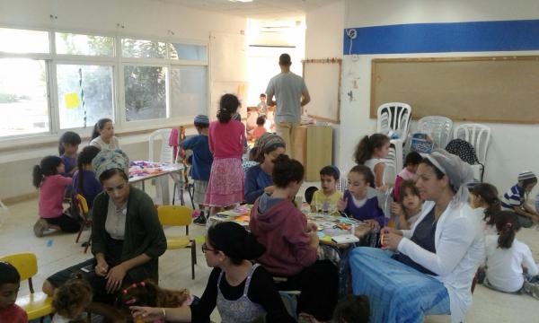 מפגש היצירה של הילדים לכבוד סוכות