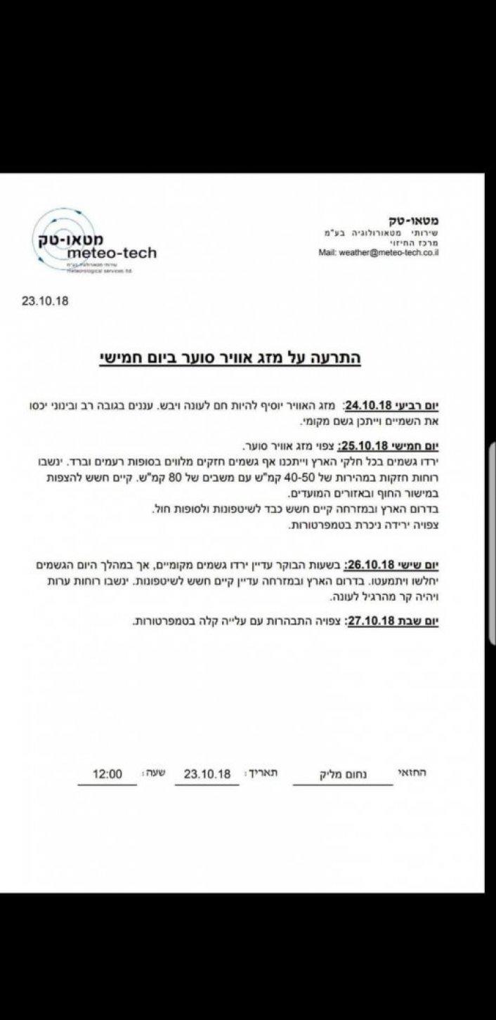 הודעות המועצה לתושבים