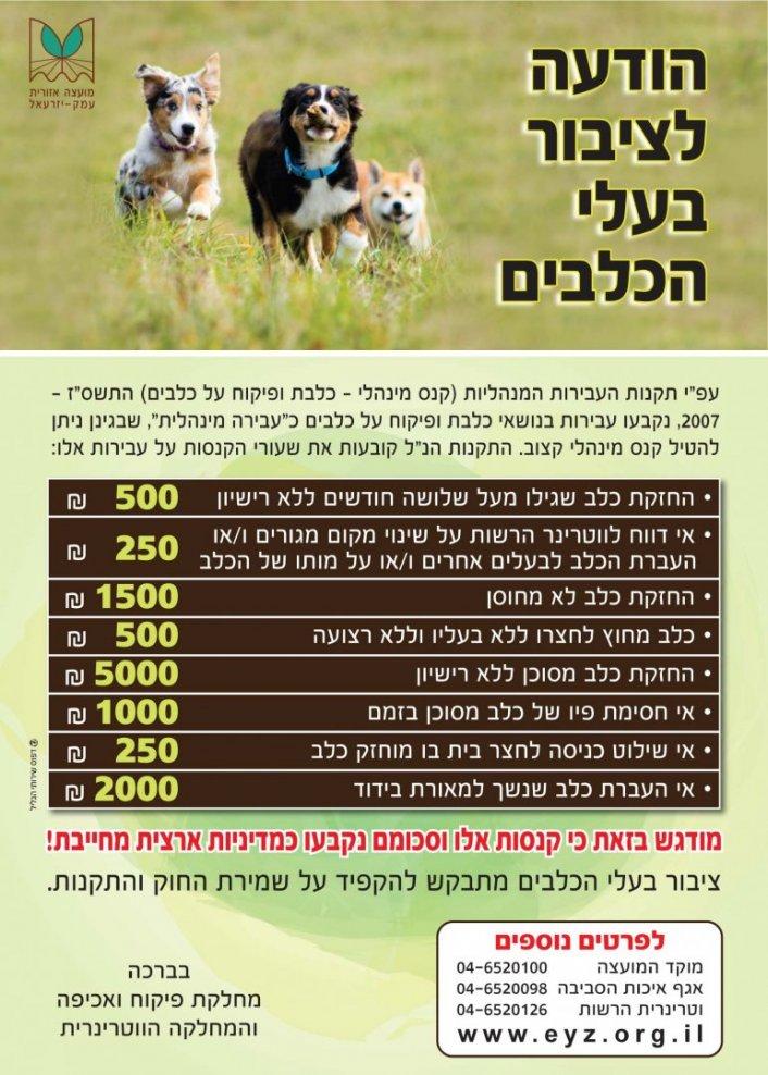 לציבור לבעלי כלבים