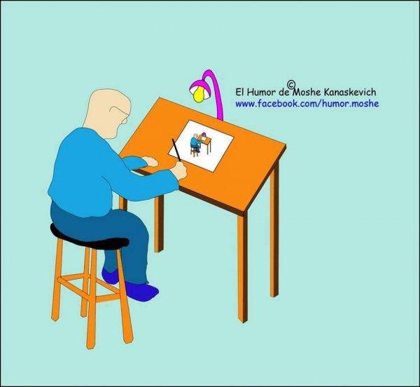 ראיון עם אמן ׳׳ההומור הגראפי׳׳ משה קנסקביץ