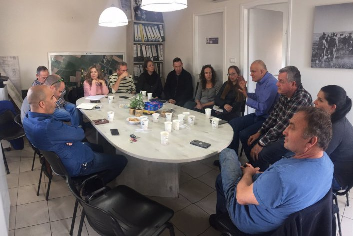 מפגש עם נציגי תנועת המושבים