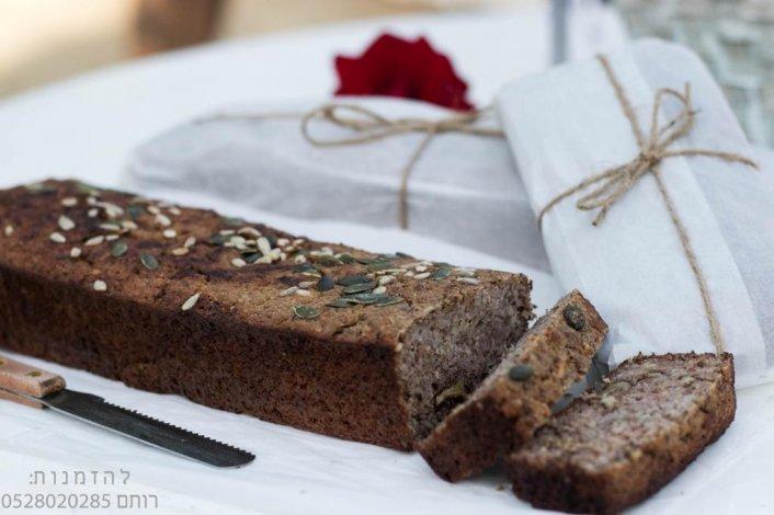 לחם מחמצת ללא גלוטן טבעוני