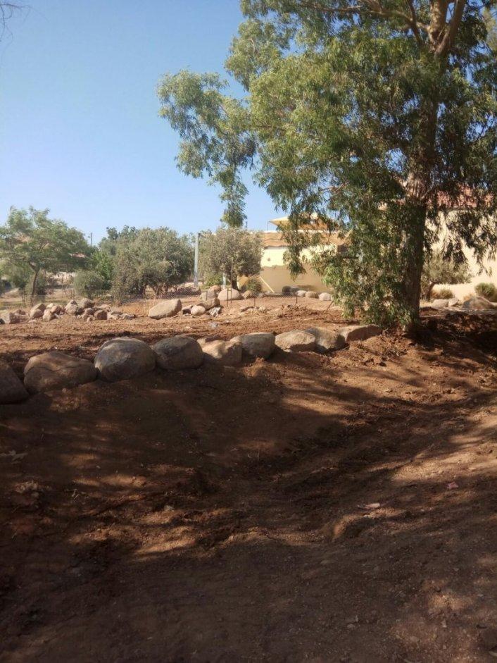 עבודות פיתוח באזור בית הכנסת