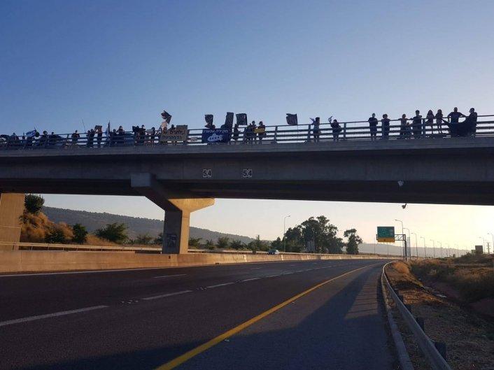 מחאת העמקים על גשר כפר יחזקאל- גדעונה- גבע