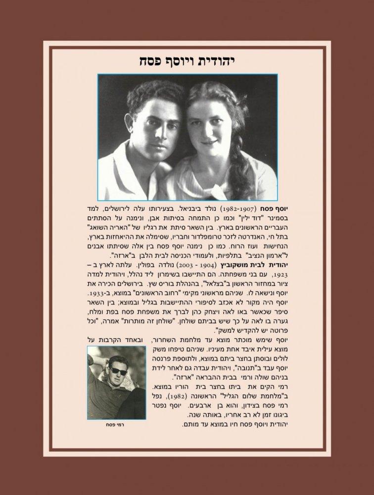 יהודית ויוסף פסח