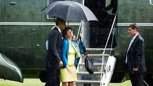אובמה בגשם