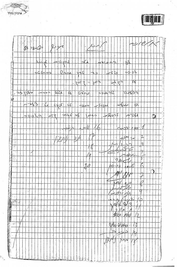 2 00220899 tif  חתימות לאסיפה מחודשת בנושא הדוכן