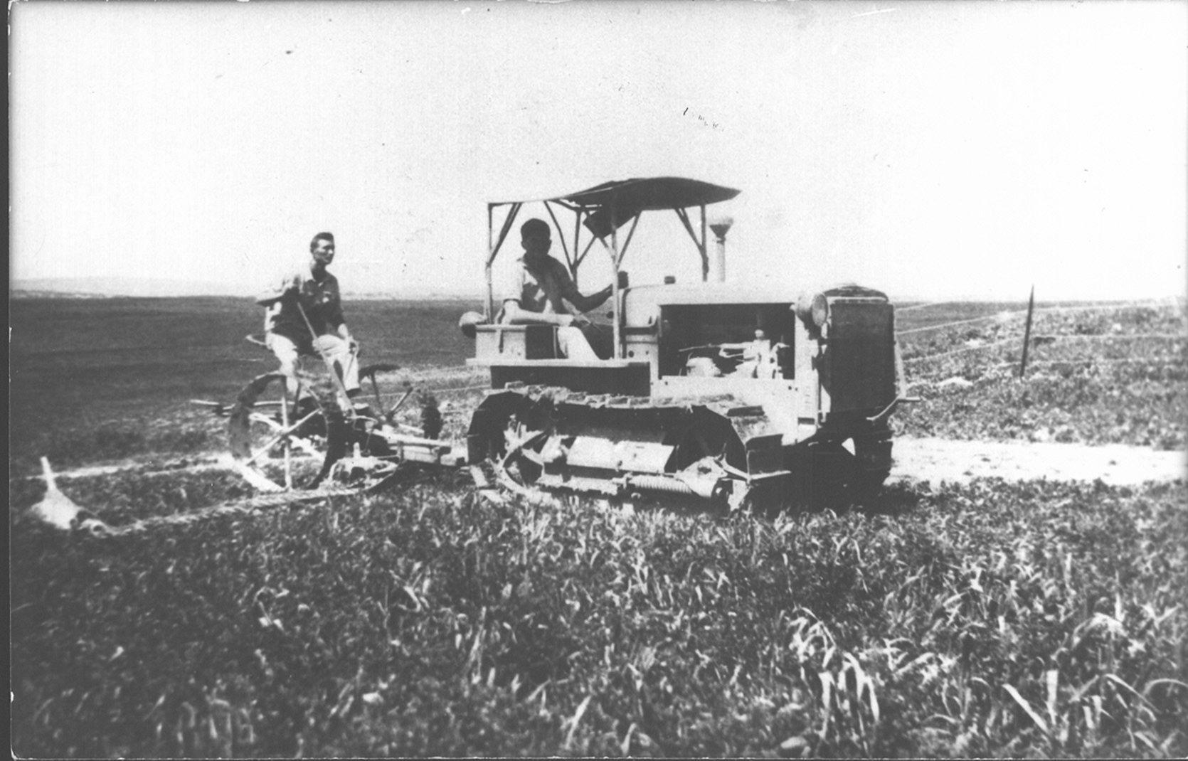 76 00382519 tif  קציר מצפון לגבעת שמרון 1937 איתמר בן ברק ומשה דיין