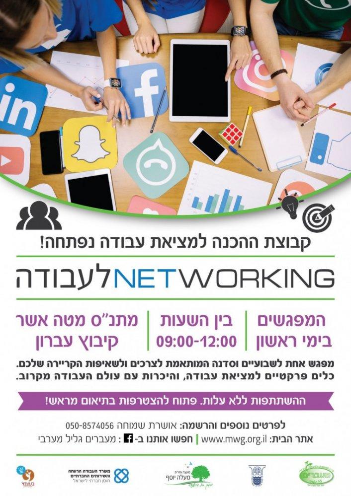 פרסום קבוצה למציאת עבודה וקבוצת הכנה לעולם העבודה
