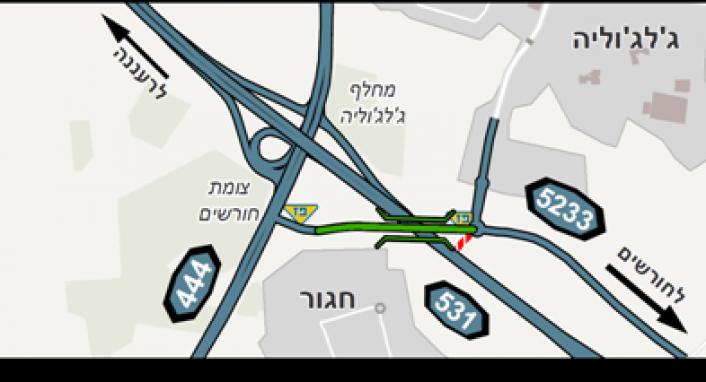 ** עדכון קשרי קהילה נתיבי ישראל - פתיחת הפרדה מפלסית 531 וכביש 5233****