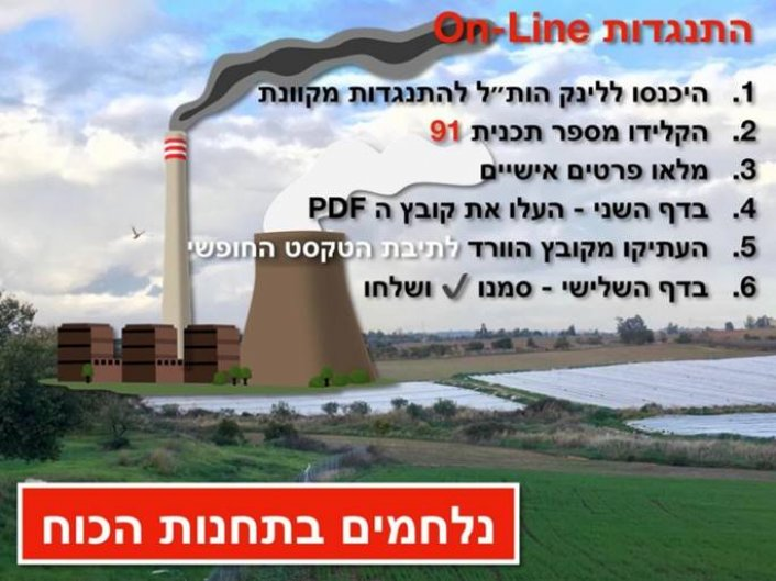 מתנגדים להקמת תחנת הכוח ליד כפר סבא