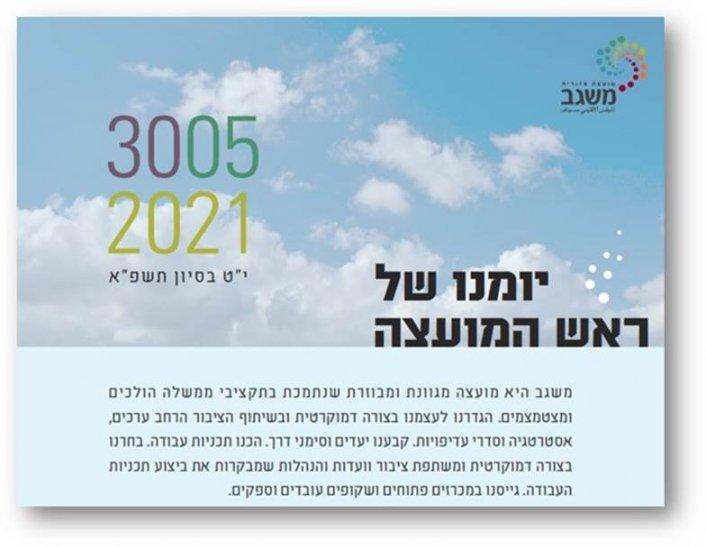 מיומנו של ראש המועצה 30/5/2021