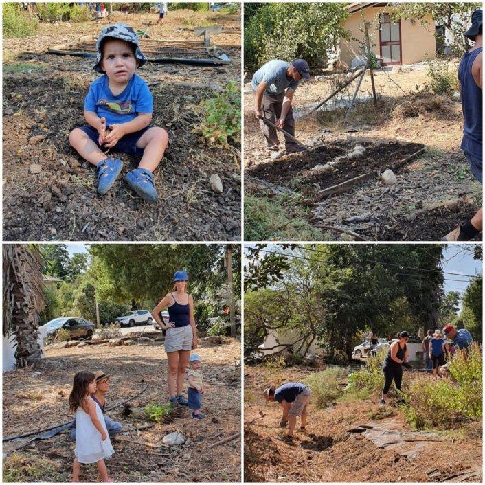 קמפינג וחילופי עונות בגינה הקהילתית