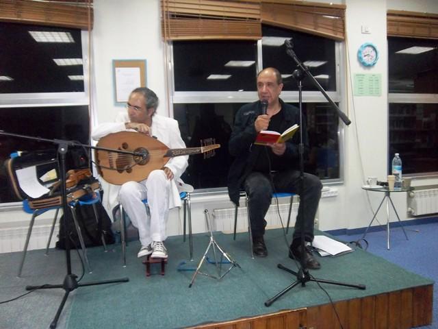 המשורר רוני סומק והמוסיקאי יאיר דלאל